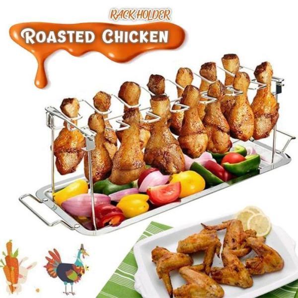 Roasted Chicken Rack Holder