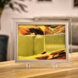 Glass dynamic quicksand frame hourglass