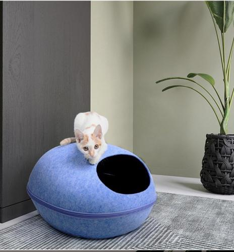 Grey Ombre Cat Cave | Pet Bed