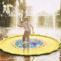 Best Fun Of 2020 Summer! Inflatable Splash Water Mat