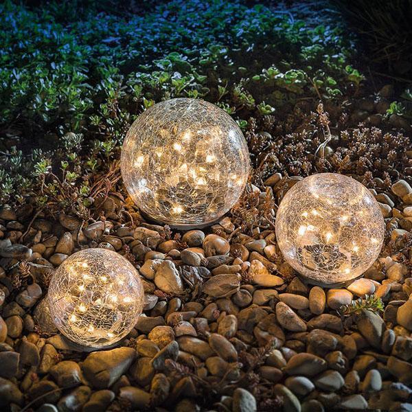 Solar Led Glass Ball Garden Lawn Lamp