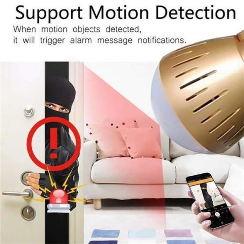 WiFi Light Bulb Security Camera