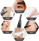 EYEBROW TRIMMER, DETAIL TRIMMER FOR NOSE, EARS AND EYEBROWS WITH DUAL SIDED BLADE SYSTEM FOR PRECISION