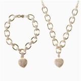 Heart Pendant Jewelry Set