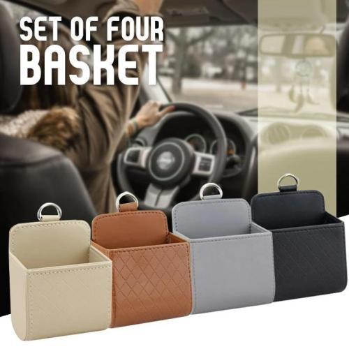 Car Leather Storage Basket
