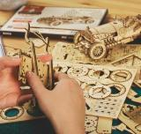 Super Wooden Mechanical Model Puzzle Without motor