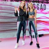 New printed slim yoga high waist sweatpants women's legging pencil pants