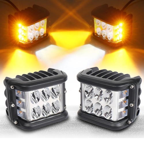Side Shooter Dual Color Strobe Cree Pods