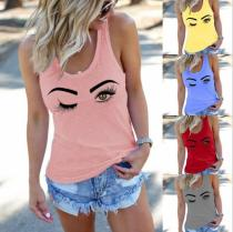 Eyelashes design Fitted Scoop T-Shirt