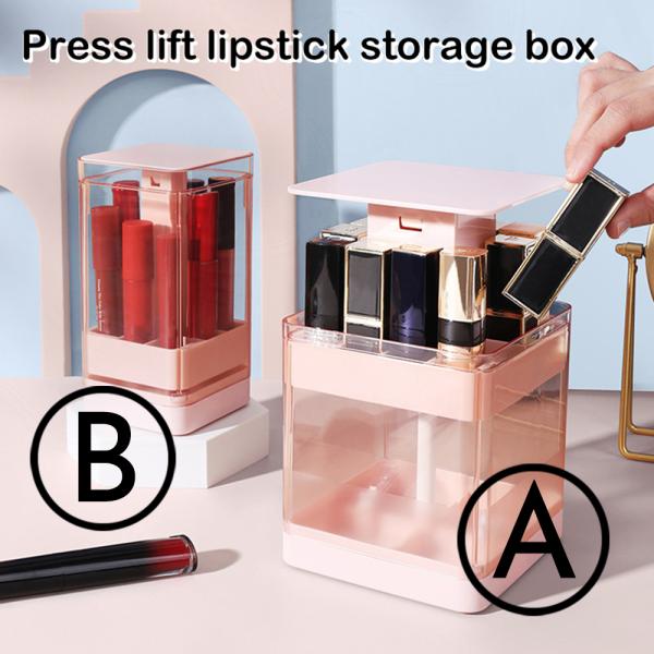 Press lift lipstick storage box