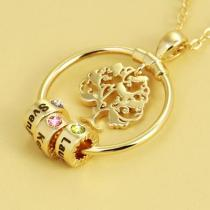 2021 New tree of life diy beaded necklace hollow wishing tree clavicle chain(Personalized)