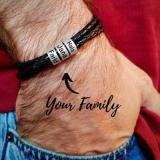 Stainless Steel Bracelet Custom Beaded Bracelet Titanium Steel Leather Bracelet(Personalized)