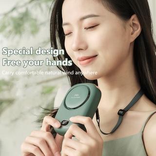 Neck Fan USB Charge Mini Fan Rechargeable USB Fan Portable Cooling Fan