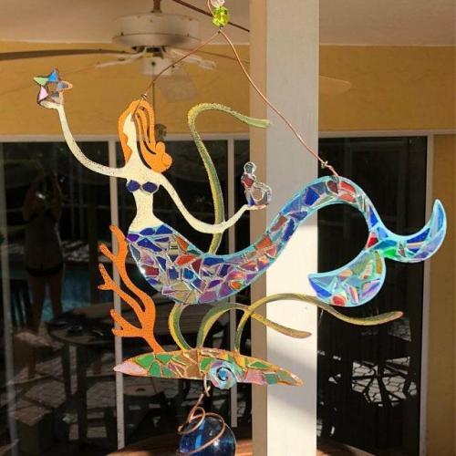 Mermaid Spinner SunCatcher