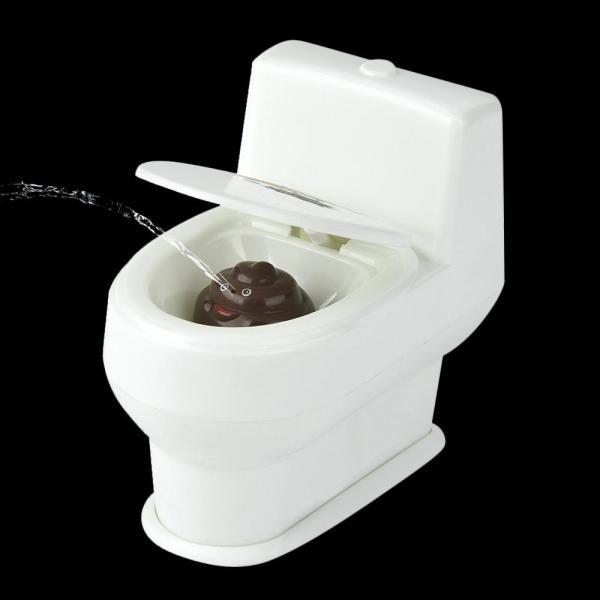 Mini Funny Prank Squirt Spray Water Toilet Closestool Joke Gag Toy Desktop Gift
