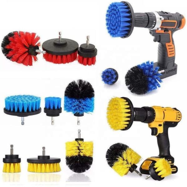 3-Piece Drill Brush Attachment Set
