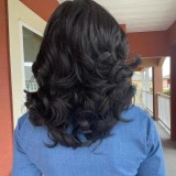 African American Wigs Medium Wavy Curly Wig