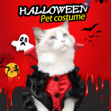 Halloween Hot Selling Pet Vampire Transform Into Cat Simulation Spoof Clothes