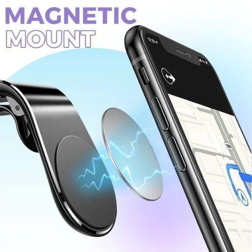 Universal 360 Degrees Rotation L-Shape Magnetic Car Phone Holder