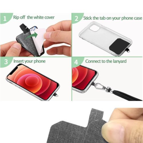 Universal Crossbody Nylon Patch Phone Lanyards