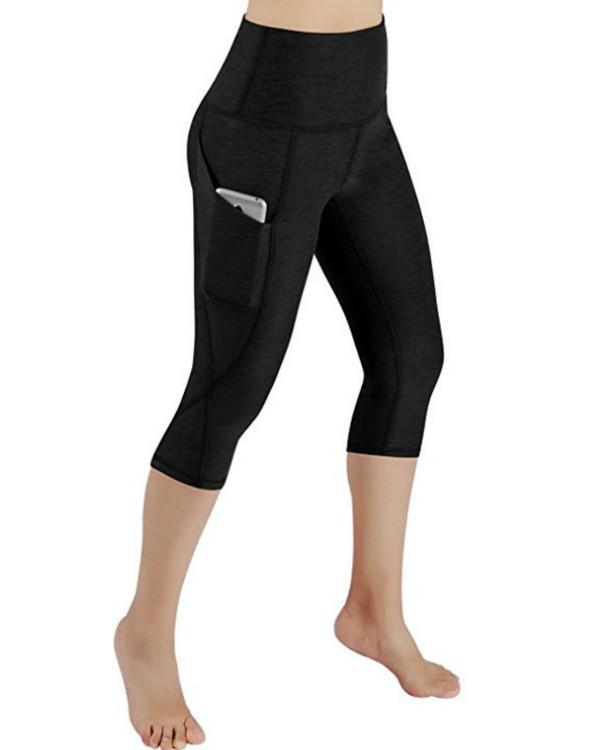 High Waist Out Pocket Yoga Pants Workout Running Leggings