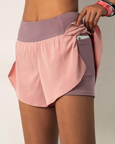 Women Yoga Pocket Shorts Sports Hot Pants