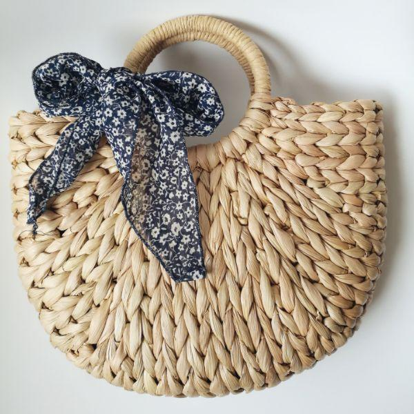 Half Moon Straw Beach Bag
