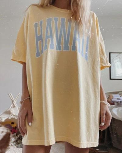 Oversize Printed Casual Long T-shirts