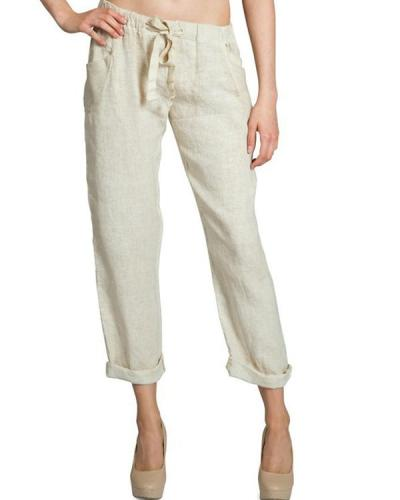 Women Line Casual Loose Pants