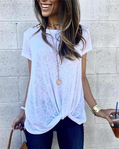 Solid Shorts Loose Casual Holiday Daily Blouse