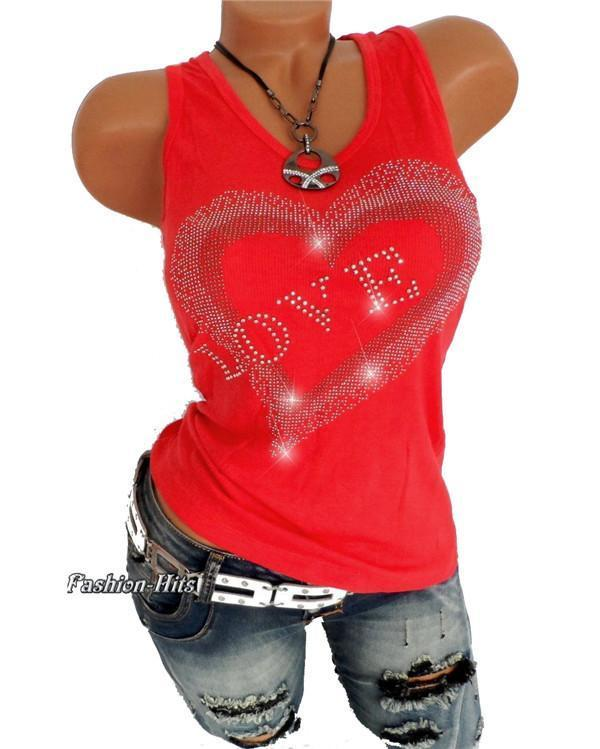 Women's Basic Solid Colored Love Cotton Tank Top