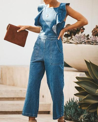 Women's Denim Jumpsuit Casual Fashion Jumpsuits
