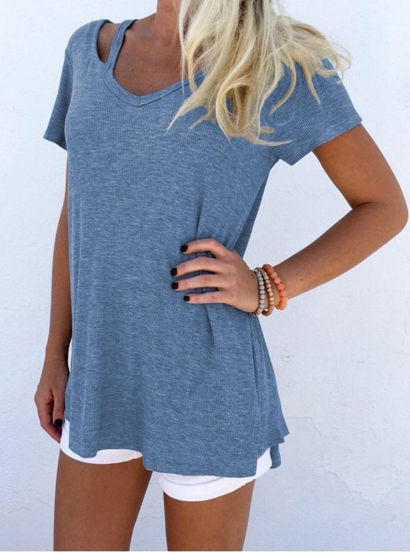 Vneck Cut Out T-shirts
