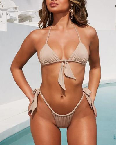 Women Halter Bikini Two Piece Swimsuit