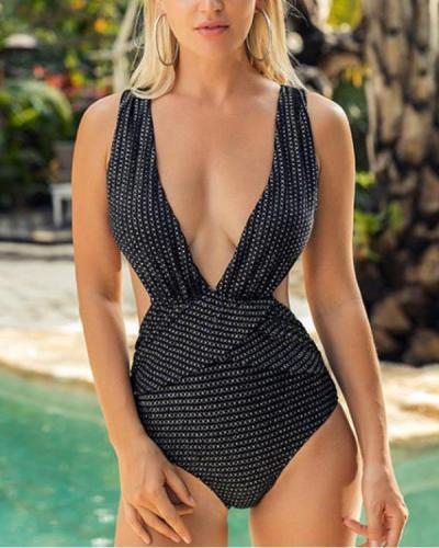 Women Sexy Backless One Piece Bikini Swimsuit