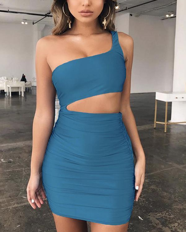 Women's Sexy Solid Color Bodycon Dress