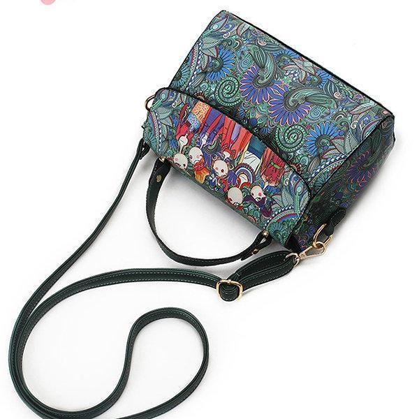 PU Leather Green Cover Crossbody Bag Forest Series Handbag