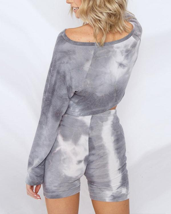Tie Dye Two-Piece Set Loungewear Casual Suits