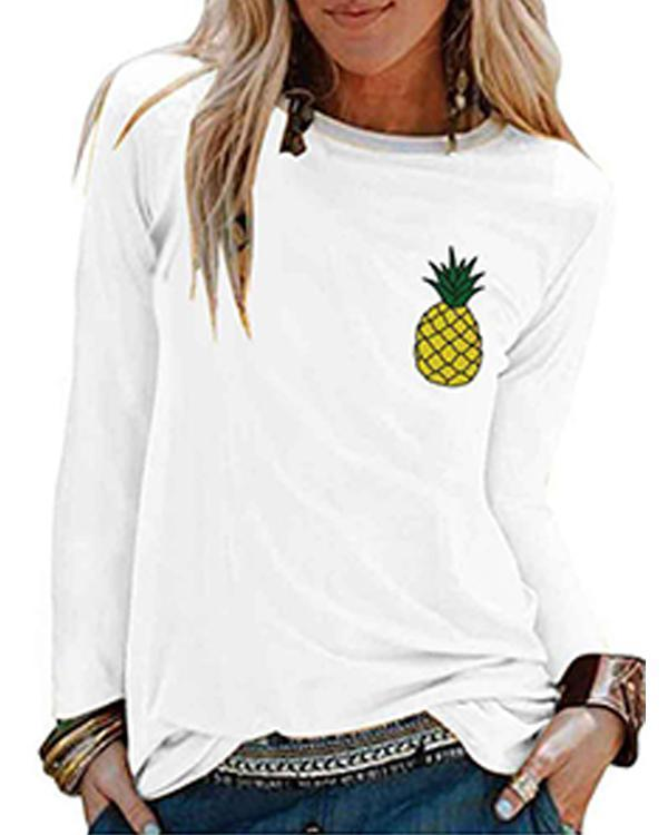 Paneled Long Sleeve Cotton-Blend Shirts & Tops