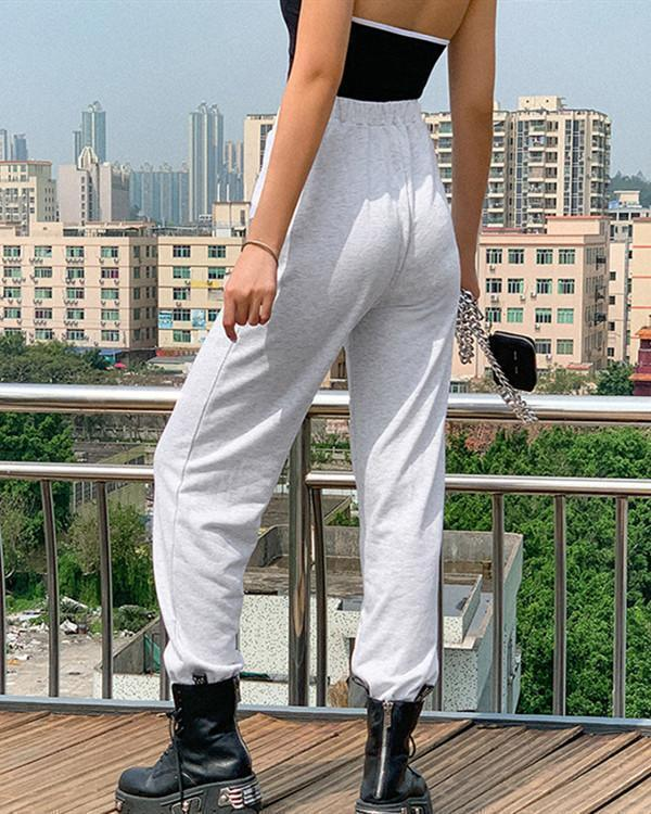 Womens Printed Street Shot Wild Casual Harem Pants