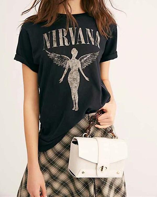 WOMEN'S FASHION PRINT T-SHIRT TOPS