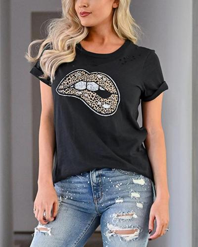 Lips Are Sealed Graphic T Shirt Tee