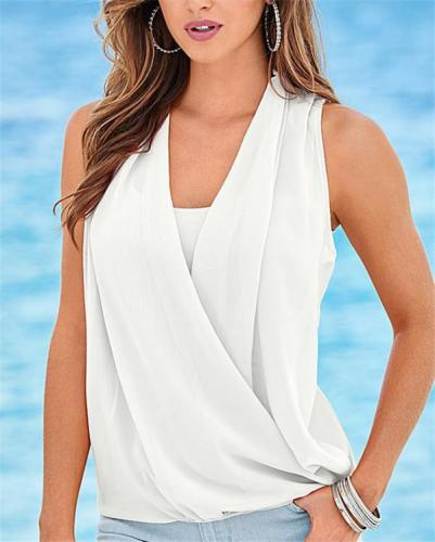 Fashion Sleeveless Stylish Summer Women Shirt Tops