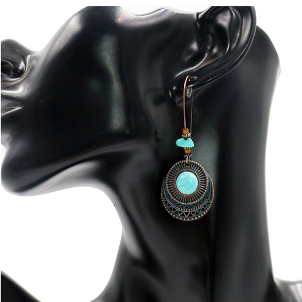 Retro Vintage Earring Turquoise Earring Dangle Earring Drop Earrings