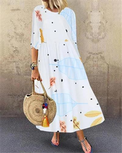Printed Summer Holiday Daily Fashion Maxi Dresses