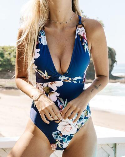 Printed Sexy Small Fresh One-piece Bikini Swimsuit