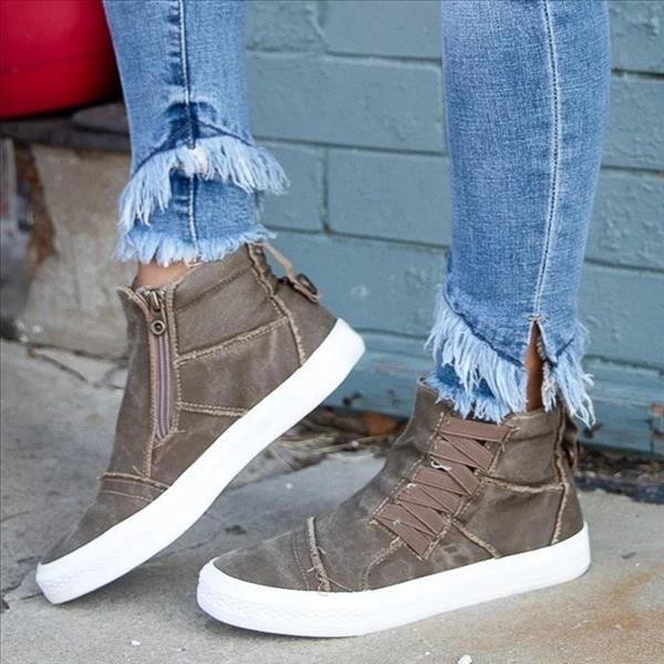 Casual Daily High Top Stylish Flat Sneakers