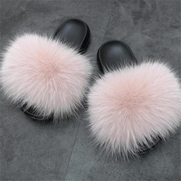 2020 Popular Fur Slides Slippers