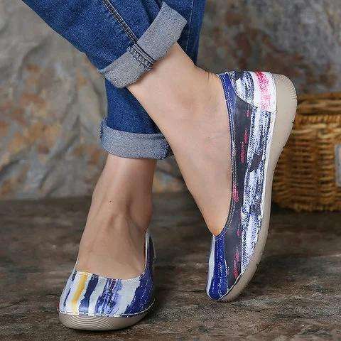 Printed Casual Fall Flats