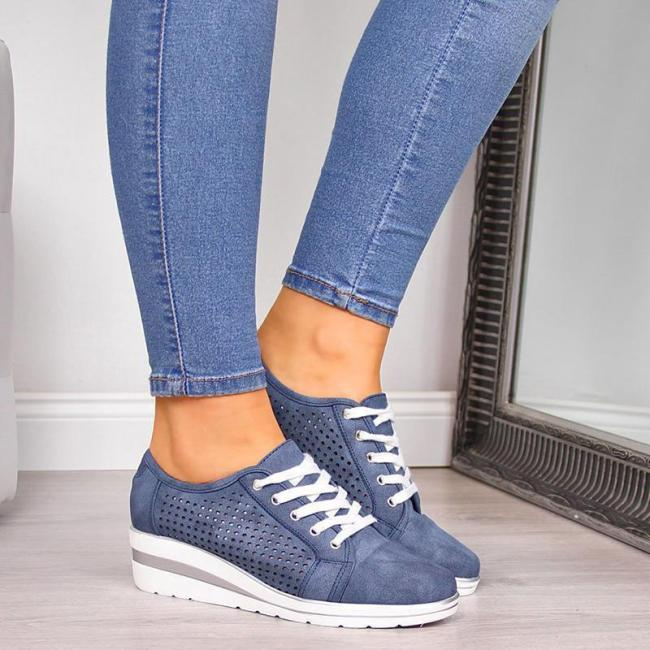 Fashion Hollow-out Wedge Heel Sneakers